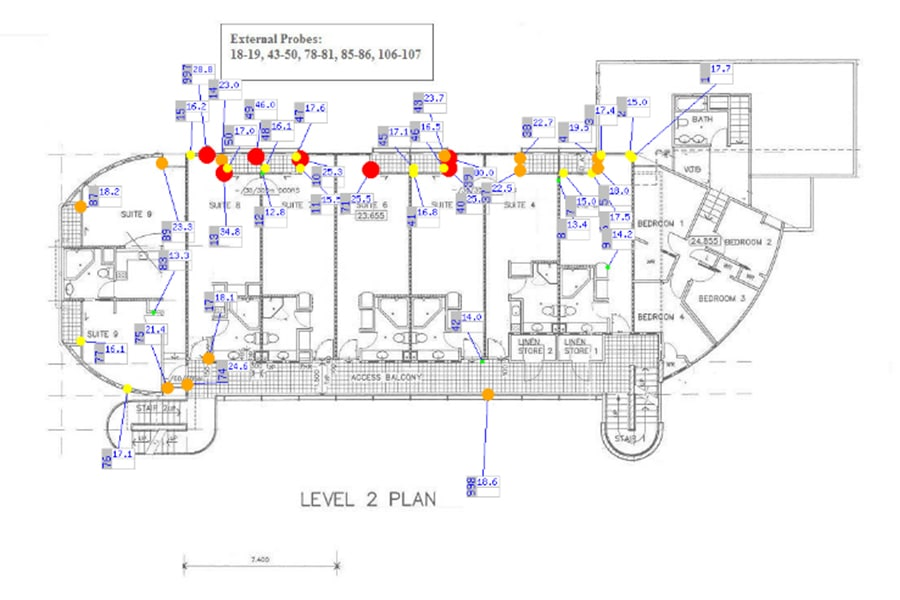 For Property Managers Moisture Probes show where maintenance is needed