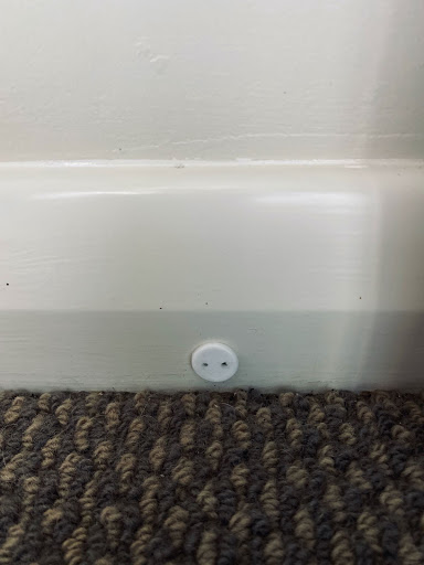 Small and discrete Mdu Moisture Probe installed to help sell a plaster clad house